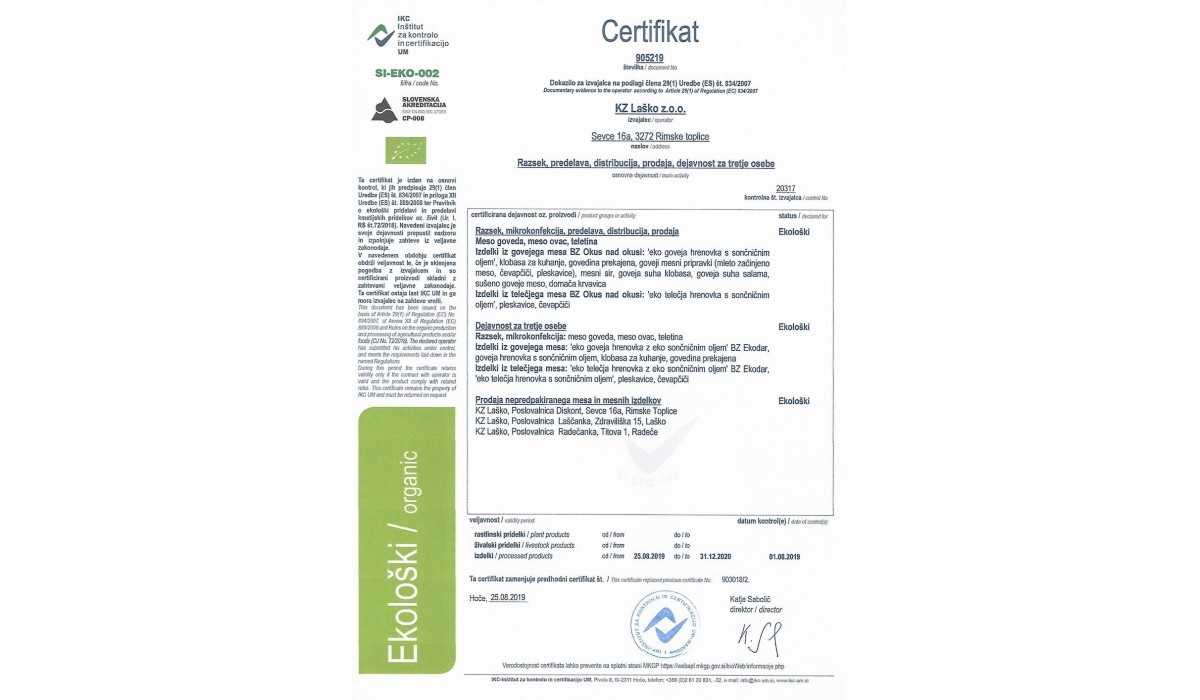 Eko Certifikat